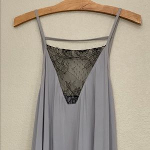 Plus Emily Lace Detail Cami-Light Grey